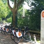 Eine Station des öffentlichen Fahrradvermietsystems metropolradruhr (Foto: raumkom)