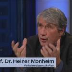 Heiner Monheim in der mdr-Talksendung ›Fakt ist!‹ zur Verkehrssituation in Mitteldeutschland (Foto: Screenshot von ardmediathek.de)